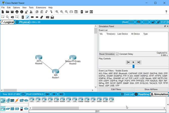 Cisco Packet Tracer 7 2 1 interface